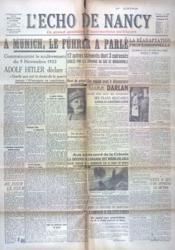 Echo De Nancy (L') N°1062 du 10/11/1943 - Couverture - Format classique