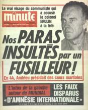 Minute N°842 du 31/05/1978 - Couverture - Format classique