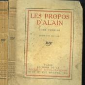 Les Propos D'Alain. En 2 Tomes. - Couverture - Format classique