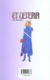 Et cetera t.2 - 4ème de couverture - Format classique