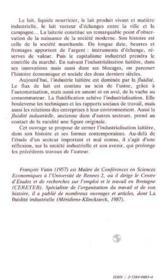 Industrie Du Lait (L') - 4ème de couverture - Format classique