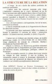 La Structure De La Relation - 4ème de couverture - Format classique