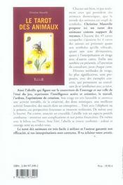 Tarot Des Animaux - 4ème de couverture - Format classique