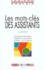 Les mots-clés des assistants ; anglais - Intérieur - Format classique