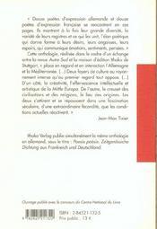 Revue Autre Sud ; Hors-Série T.2 ; Poésie D'Aujourd'Hui - 4ème de couverture - Format classique