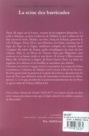 La jeunesse du roi Henri t.4 ; la reine des barricades - 4ème de couverture - Format classique