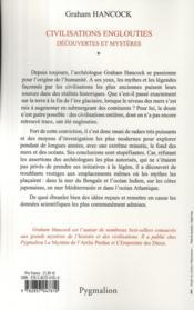 Civilisations englouties t.1 ; découvertes et mystères - 4ème de couverture - Format classique