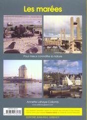 Les marees - 4ème de couverture - Format classique