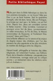 Jésus est-il Dieu ? - 4ème de couverture - Format classique