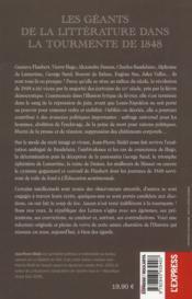 La plume et les barricades ; de Lamartine à Baudelaire ; les écrivains dans la révolution de 1848 - 4ème de couverture - Format classique
