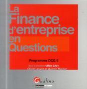 La finance d'entreprise en questions - Couverture - Format classique