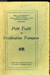 Petit Traite De Versification Francaise - Couverture - Format classique