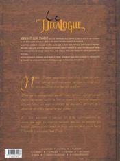 Le décalogue t.2 ; la fatwa - 4ème de couverture - Format classique