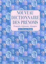 Nouveau dictionnaire des prenoms - Intérieur - Format classique