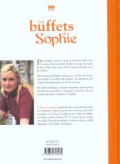 Buffets De Sophie (Les) - 4ème de couverture - Format classique