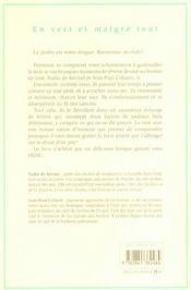 En Vert Et Malgre Tout - 4ème de couverture - Format classique