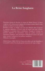 Buridan t.2 ; la reine sanglante - 4ème de couverture - Format classique