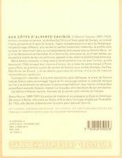 Aux côtés d'Alberto Savinio - 4ème de couverture - Format classique
