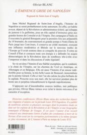 L'Eminence Grise De Napoleon - 4ème de couverture - Format classique