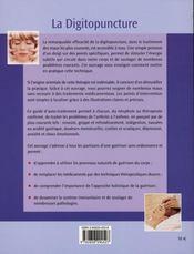 La digitopuncture pour les maux courants - 4ème de couverture - Format classique