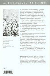Ut pictura poesis - 4ème de couverture - Format classique
