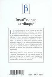 Insuffisance Cardiaque ; Les Enseignements Des Grands Essais Cliniques - 4ème de couverture - Format classique