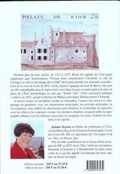 Riom 1212-1557, capitale et bonne ville d'Auvergne - 4ème de couverture - Format classique