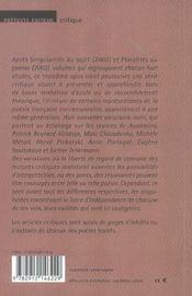Poesies:Variations T 3 - 4ème de couverture - Format classique