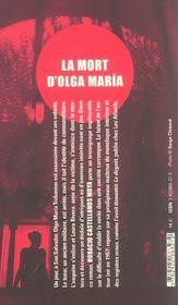 La mort d'olga maria - 4ème de couverture - Format classique