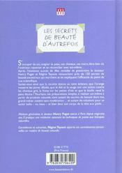 Secrets De Beaute D'Autrefois (Les) - 4ème de couverture - Format classique