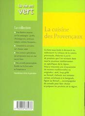 La cuisine des provençaux - 4ème de couverture - Format classique