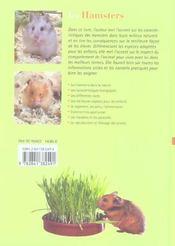 Les Hamsters - 4ème de couverture - Format classique