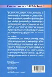 Préparation aux BEES t.1 - 4ème de couverture - Format classique
