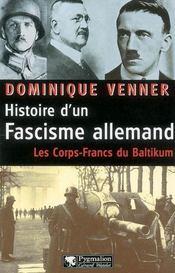 Histoire D'Un Fascisme Allemand - Intérieur - Format classique