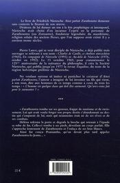 Le Fils De Zarathoustra - 4ème de couverture - Format classique