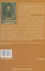 Style De Vincent Voiture - 4ème de couverture - Format classique