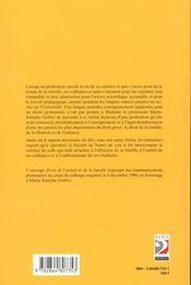 Droit De L'Enfant Et De La Famille ; Hommage A Marie-Josephe Gebler - 4ème de couverture - Format classique