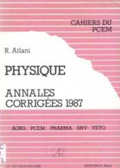 Annales physique, 1987, numéro 18 - Couverture - Format classique