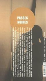 Passes noires - 4ème de couverture - Format classique