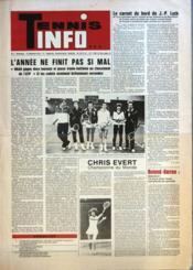 Tennis Info N°2 du 15/12/1978 - Couverture - Format classique
