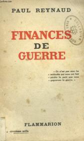 Finances De Guerre. - Couverture - Format classique