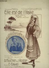 Elle Est De L'Italie - Piano Et Chant. - Couverture - Format classique