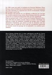 Nouveau réalisme, 1960-1990 - 4ème de couverture - Format classique