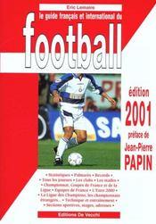 Le Guide Francais Et International Du Football 2001 - Intérieur - Format classique
