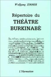 Répertoire du théâtre burkinabè - Couverture - Format classique