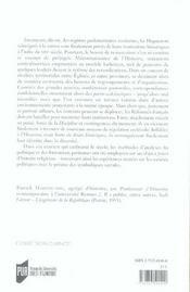 Parlement Des Huguenots - 4ème de couverture - Format classique