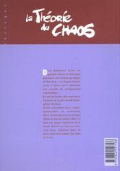 La theorie du chaos t.1 - 4ème de couverture - Format classique