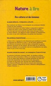 Nature à lire ; CM1 ; le manuel (édition 2002) - 4ème de couverture - Format classique