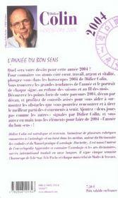 Horoscope 2004 ; Les Douze Signes - 4ème de couverture - Format classique