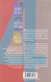 Petit Dictionnaire Des Expressions Nees De L Histoire - 4ème de couverture - Format classique